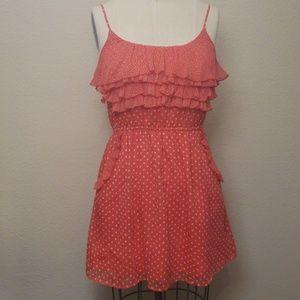 Dresses & Skirts - Orange Polka Dot Dress with Pockets